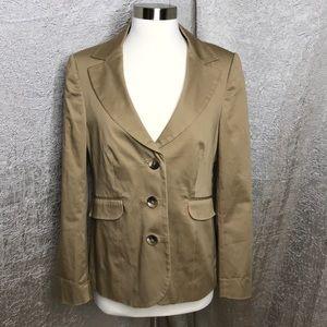 Boden Tan Acorn Cotton 3 Button Blazer Size 6 US